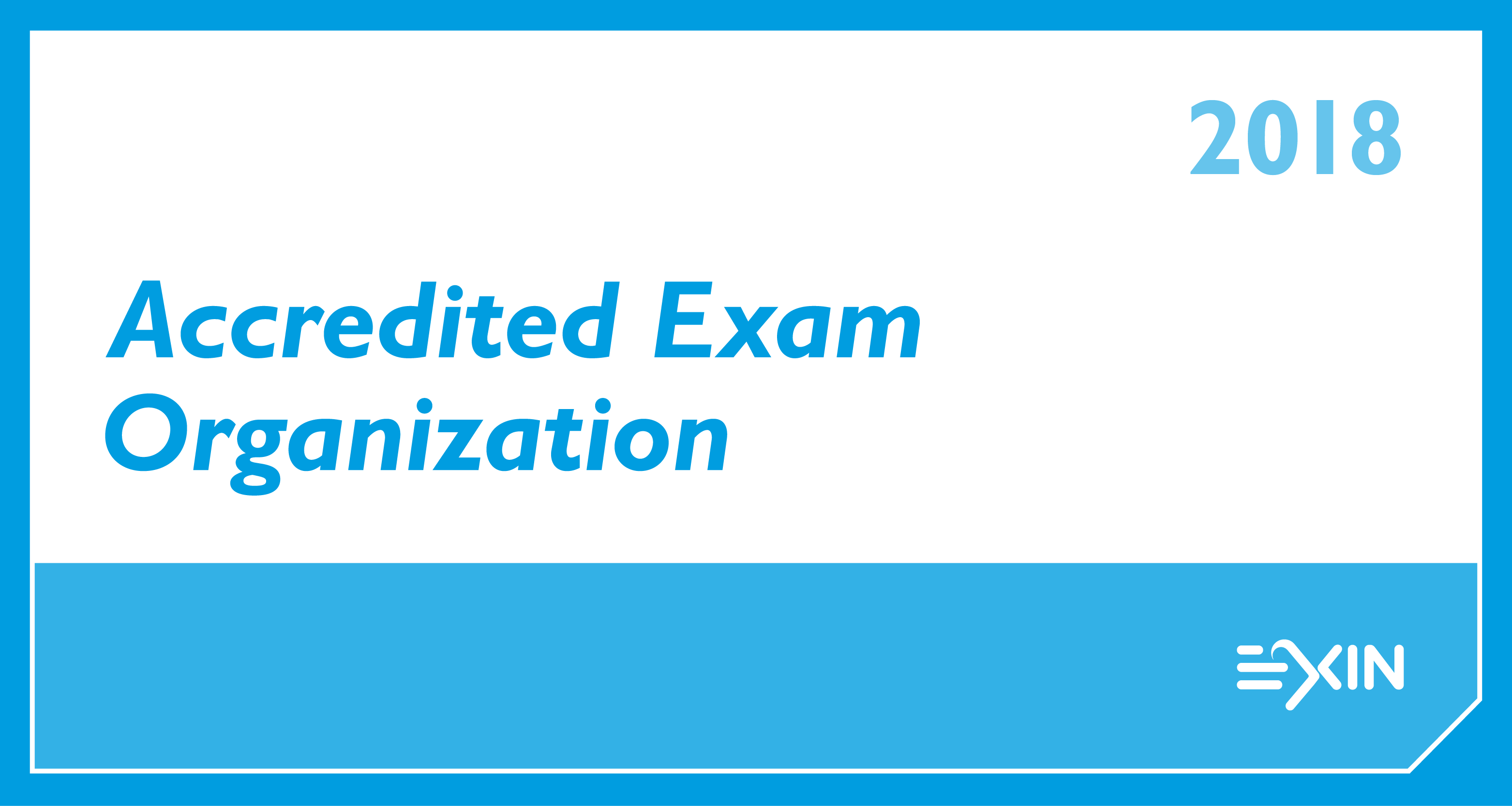 Logo AEO Accreditation EXIN EXIN EXAM ORGANIZATION ACCREDITED RGB