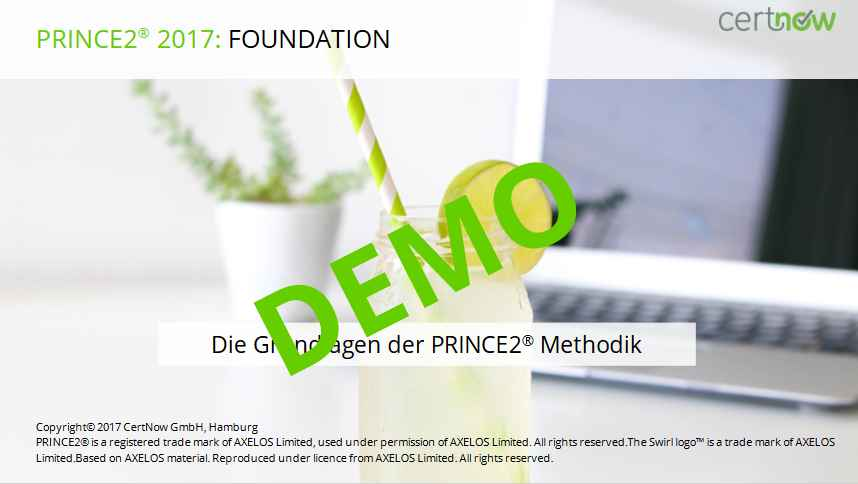 PRINCE2 Foundation Online Demo